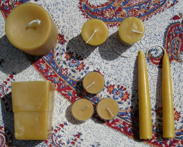 Pure Beeswax Candles - No Color Additives