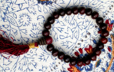 Red Sandalwood Wrist Mala 10mm